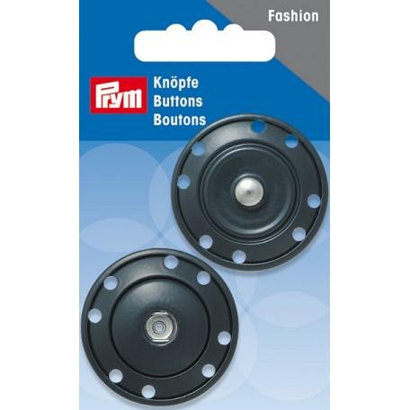 PR.341837 Кнопки пришивные металл с защитой от коррозии цв.темно-синий 35мм