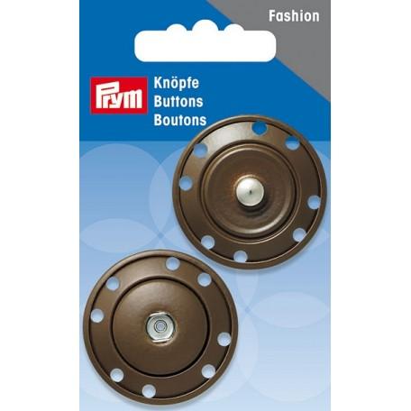 PR.341841 Кнопка пришивная металл с защитой от коррозии цв.коричневый 1пара в упаковке 35мм