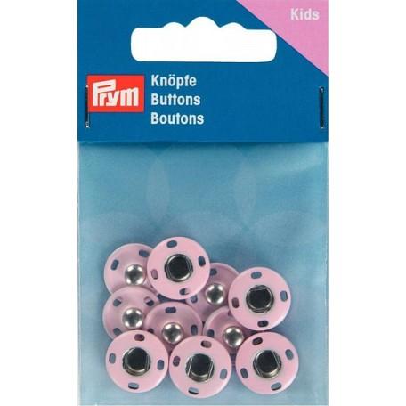PR.341902 Кнопки пришивные латунь, нержавеющие цв.светло-розовый уп.5шт 14мм