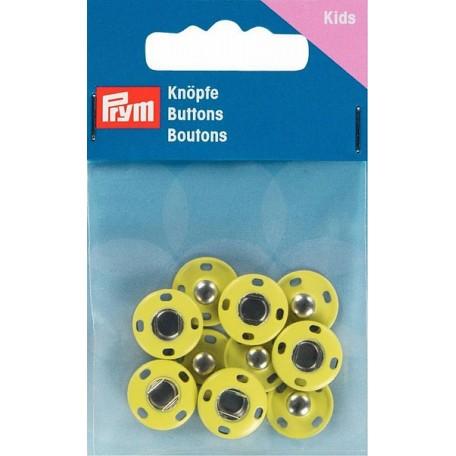 PR.341904 Кнопки пришивные латунь, нержавеющие цв.желтый уп.5шт 14мм