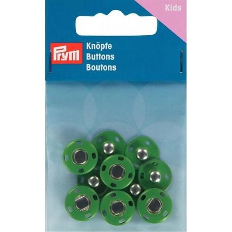PR.341907 Кнопки пришивные латунь, нержавеющие цв.зеленый уп.5шт 14мм