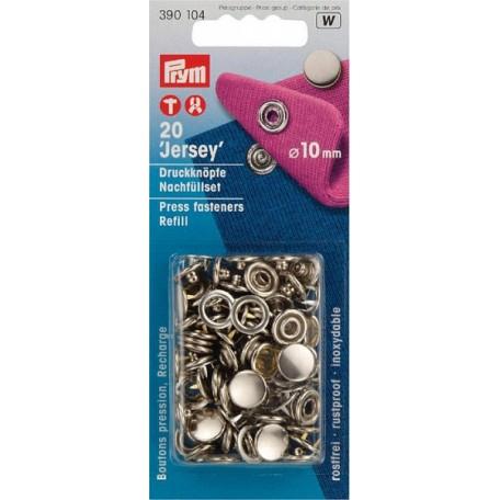 PR.390104 Пополняемая упаковка для кнопок Джерси (без насадок), для арт 390120, 10мм цв.серебристый