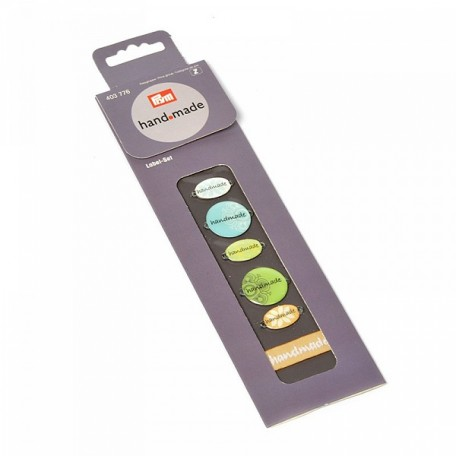 PR.403776 PRYM Набор пришивных этикеток 'Handmade' (металл, пластик, лента) 5 эмблем/5 ткан.этикеток