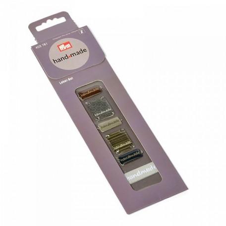 PR.403781 PRYM Набор пришивных этикеток 'Handmade' (металл, пластик, лента) 5 эмблем/5 ткан.этикеток