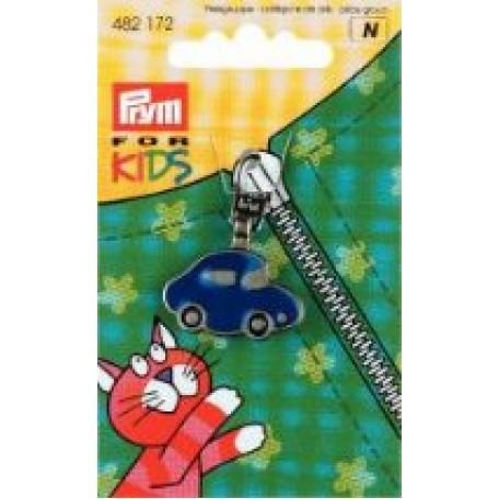PR.482172 Подвеска д/молний, с карабином д/смены 'Машина' металл, нержавеющий цв.синий
