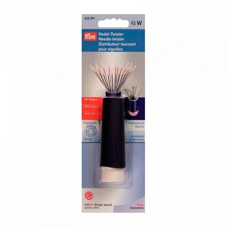 PR.610291 PRYM Вращающаяся игольница-'твистер' с магнитом пластик без содержимого цв. фиолетовый/бел