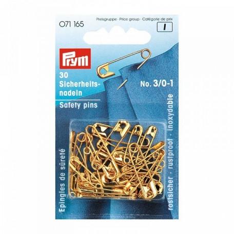 PR.71165 PRYM Булавки английские 19/23/27мм латунь нержавеющие со спиралью цв. золотистый уп.30шт