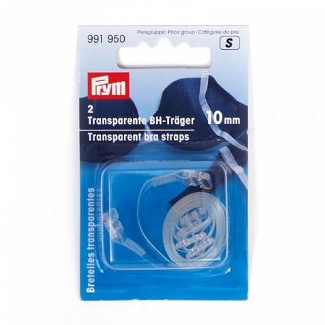 PR.991950 PRYM Прозрачные лямки для бюстгалтера-съемные 10мм уп.2шт