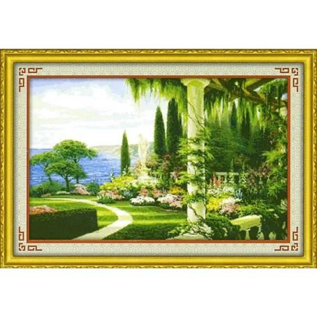 Набор для изготовления картины со стразами (мозаика) арт.TBY- 7199 75х50