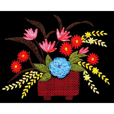 Набор для вышивания лентами арт.TBY- A002 50*55