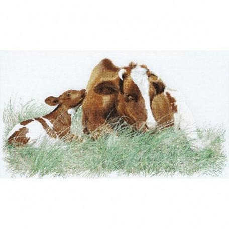 Набор для вышивания арт.Gouverneur-449 'Корова и теленок' 45х70 см