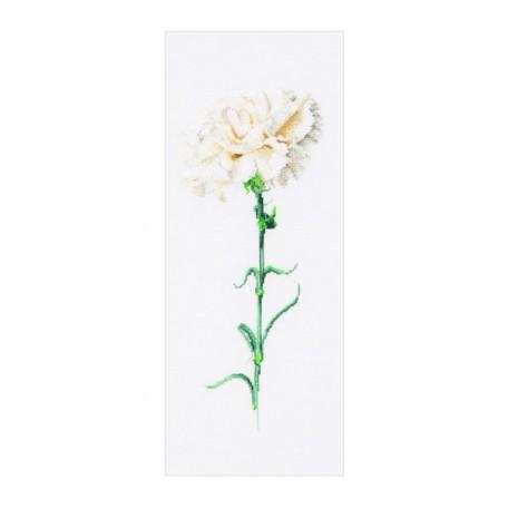 Набор для вышивания арт.Gouverneur-466 'Белая гвоздика' 17х42 см