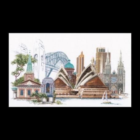 Набор для вышивания арт.Gouverneur-480 'Сидней' 17х42 см
