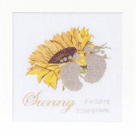 Набор для вышивания арт.Gouverneur-507 'Метрика Солнечный' 15х15 см