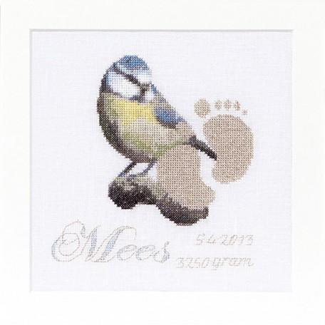 Набор для вышивания арт.Gouverneur-509 'Метрика' 15х15 см