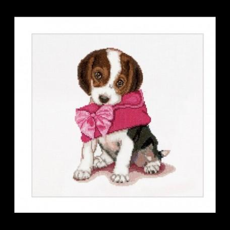 Набор для вышивания арт.Gouverneur-732 A 'Милый щенок' 31х30 см