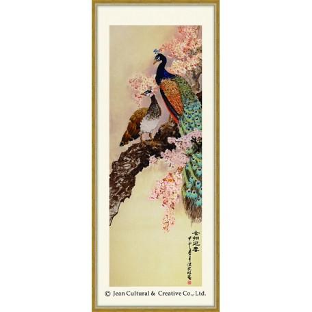 Набор для вышивания крестом Xiu Crafts арт.XC.1001 Павлины 41х113 см