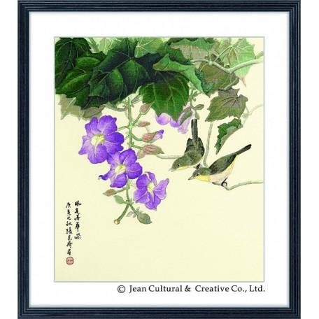 Набор для вышивания крестом Xiu Crafts арт.XC.104 Небесно-голубая лиана 46х53 см