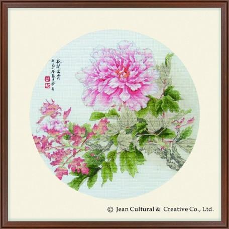 Набор для вышивания крестом Xiu Crafts арт.XC.108 Раскрывшийся пион 41х41 см