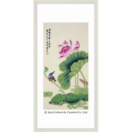 Набор для вышивания крестом Xiu Crafts арт.XC.112 Аромат лотоса 33х64 см