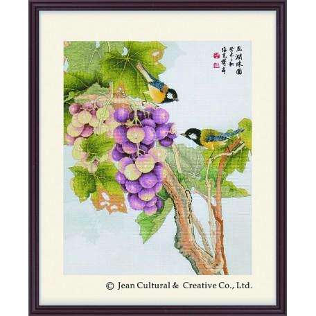 Набор для вышивания крестом Xiu Crafts арт.XC.115 Спелая гроздь винограда 51х66 см
