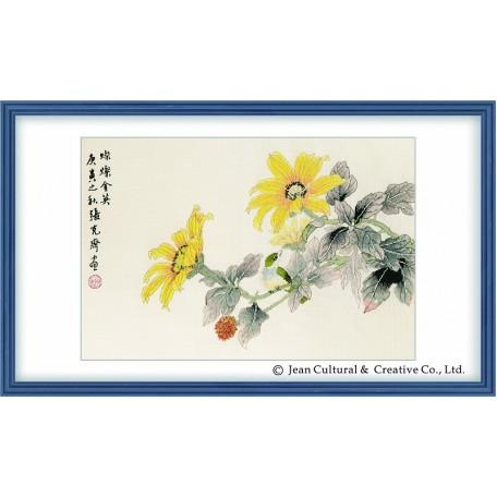 Набор для вышивания крестом Xiu Crafts арт.XC.118 Цветущий триаллис 43х28 см