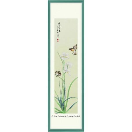 Набор для вышивания крестом Xiu Crafts арт.XC.119 Нарциссы в цвету 23х90 см