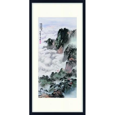 Набор для вышивания крестом Xiu Crafts арт.XC.1204 Море облаков 56х104 см