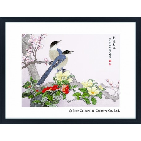 Набор для вышивания крестом Xiu Crafts арт.XC.125 Приход весны 61х46 см