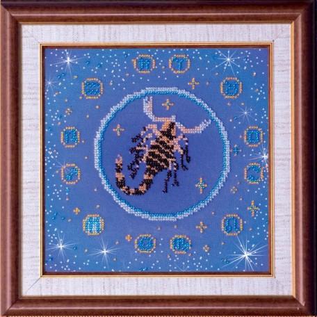 Набор для вышивания бисером АБРИС АРТ арт. AB-007-7 'Скорпион' 23х23 см