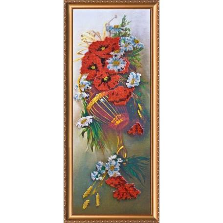 Набор для вышивания бисером АБРИС АРТ арт. AB-001 'Полевые цветы' 17x45 см