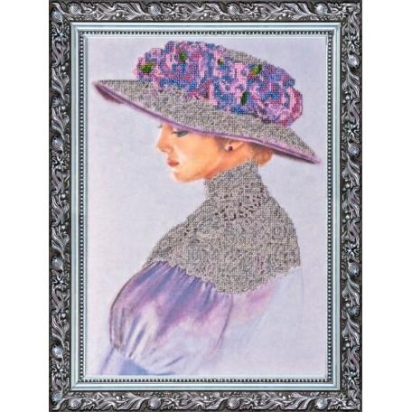Набор для вышивания бисером АБРИС АРТ арт. AB-002 'Виолет' 40x28 см