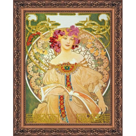 Набор для вышивания бисером АБРИС АРТ арт. AB-003 'Любава' 31 х23,5 см
