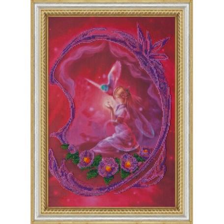 Набор для вышивания бисером АБРИС АРТ арт. AB-004 'Фея' 40х27,5 см