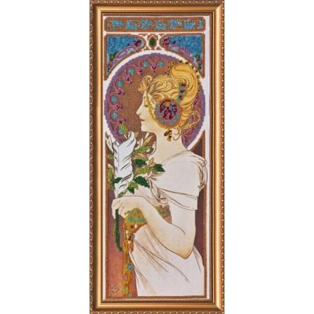 Набор для вышивания бисером АБРИС АРТ арт. AB-006 'Шанталь' 20x45 см