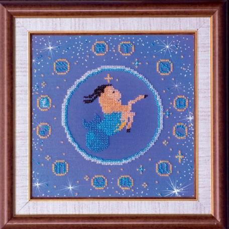 Набор для вышивания бисером АБРИС АРТ арт. AB-007-11 'Козерог' 23х23 см