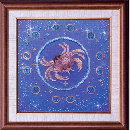 Набор для вышивания бисером АБРИС АРТ арт. AB-007-2 'Рак' 23х23 см