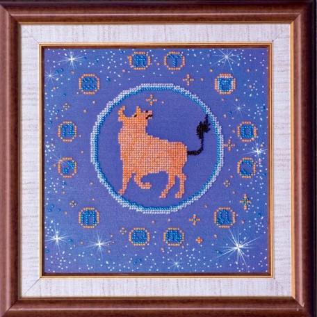 Набор для вышивания бисером АБРИС АРТ арт. AB-007-4 'Телец' 23х23 см