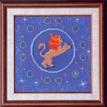 Набор для вышивания бисером АБРИС АРТ арт. AB-007-5 'Лев' 23х23 см