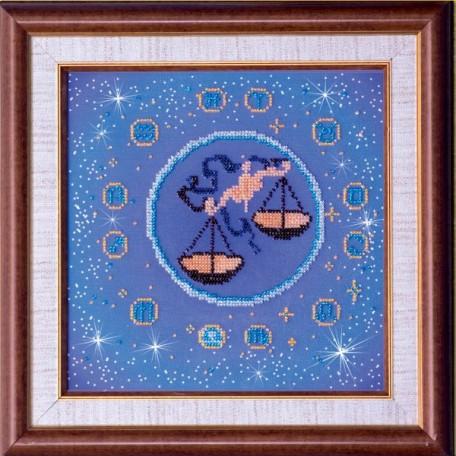 Набор для вышивания бисером АБРИС АРТ арт. AB-007-8 'Весы' 23х23 см