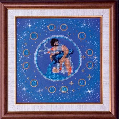 Набор для вышивания бисером АБРИС АРТ арт. AB-007-9 'Водолей' 23х23 см