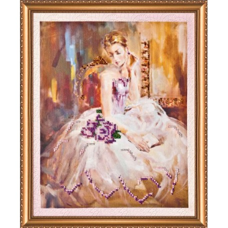 Набор для вышивания бисером АБРИС АРТ арт. AB-010 'Либретто' 22,5х28 см