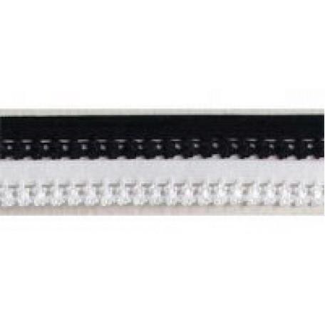 Резинка ажурная 10мм, арт. ТВF-051, цв.белый, упак.100м