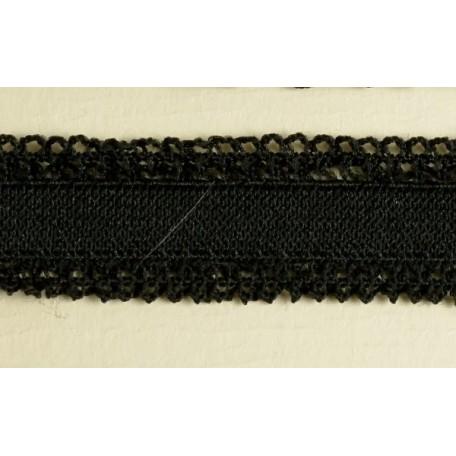 Резинка ажурная арт. 01018 шир.20мм 2-х сторонняя цв.черный уп.50м