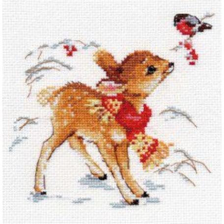 Набор для вышивания арт.Алиса - 0-100 'Олененок' 14х14 см