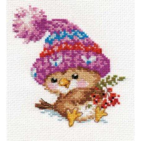 Набор для вышивания арт.Алиса - 0-101 'Воробушек' 11х12 см