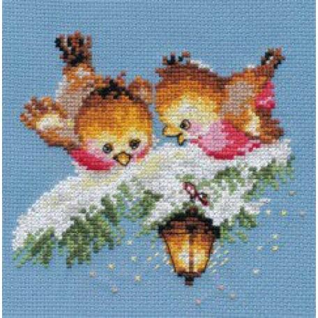 Набор для вышивания арт.Алиса - 0-102 'На огонек' 14х13 см