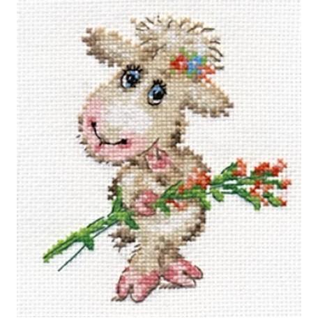 Набор для вышивания арт.Алиса - 0-105 'Милая овечка' 10х12 см