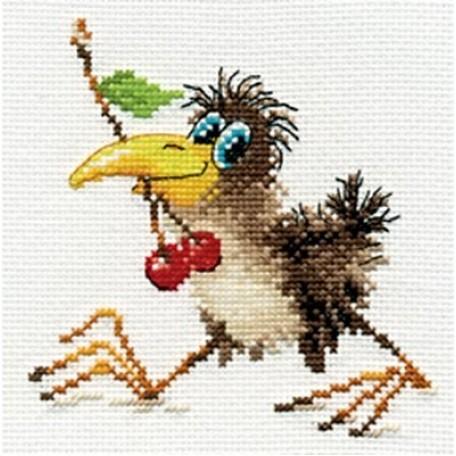 Набор для вышивания арт.Алиса - 0-107 'Вороненок' 12х12 см