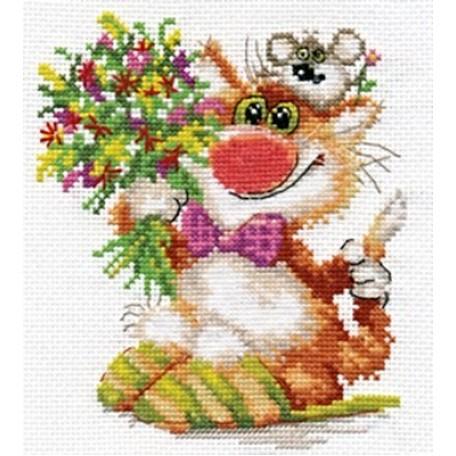 Набор для вышивания арт.Алиса - 0-108 'Спешим поздравить' 13х15 см